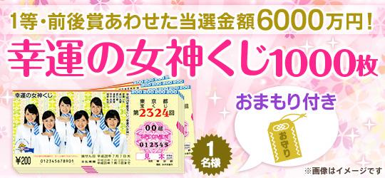 幸運の女神くじ1000枚(お守りつき)