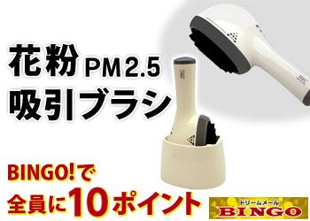 BINGO!で花粉 PM2.5 吸引ブラシ