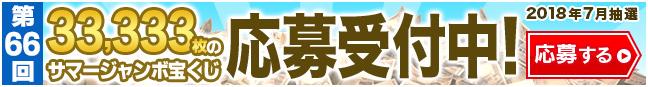 サマージャンボ宝くじ 33,333枚プレゼント 応募受付中 応募締切7月3日