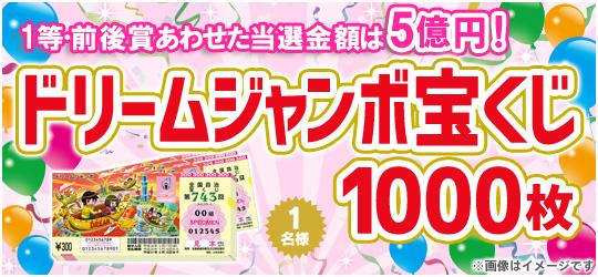 ドリームジャンボ宝くじ【1000枚】
