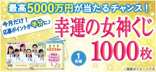 幸運の女神くじ【1000枚】