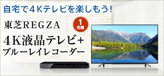 REGZA 4K液晶テレビ+ブルーレイレコーダー