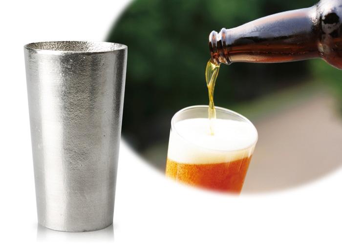 本錫100%  ビアカップ