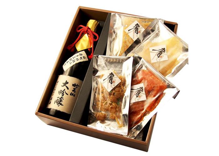大吟醸 妙高山 720ml&清酒漬け珍味4種セット