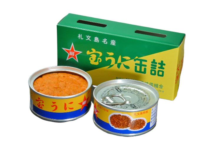 宝うに缶詰 エゾバフンウニ2個セット