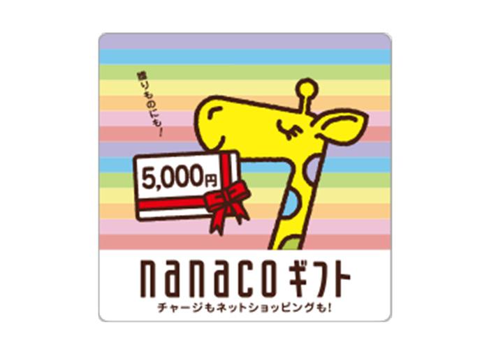 nanacoギフトカード 5000円分