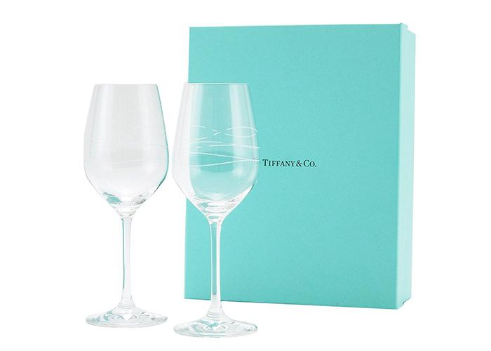 TIFFANY&Co カデンツ ワイングラス ペアセット