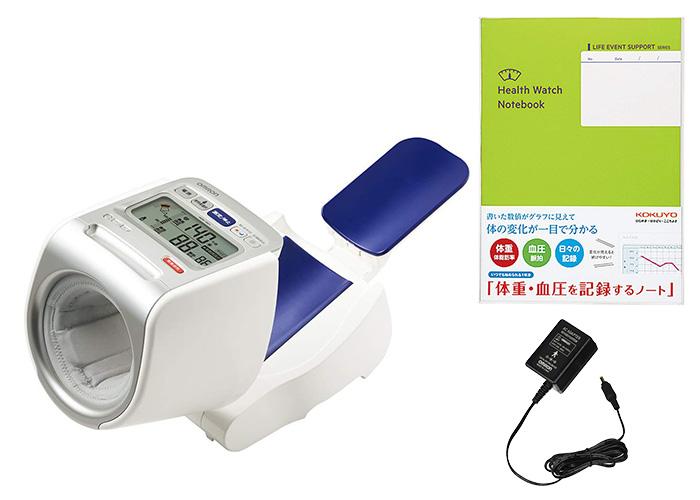 オムロン 血圧計 上腕式 全自動タイプ セット(ACアダプタ、記録ノート付き)