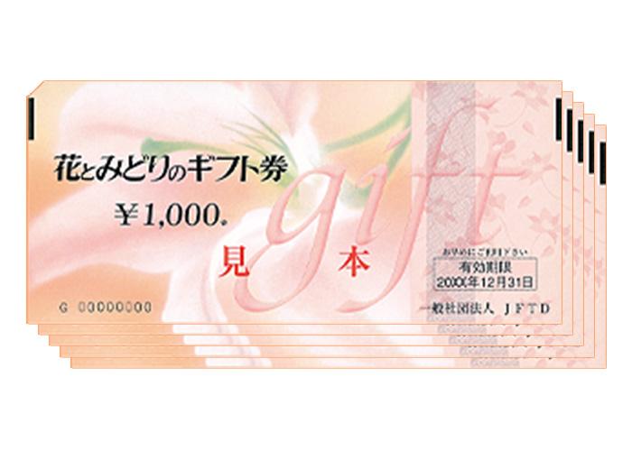花とみどりのギフト券 5000円分