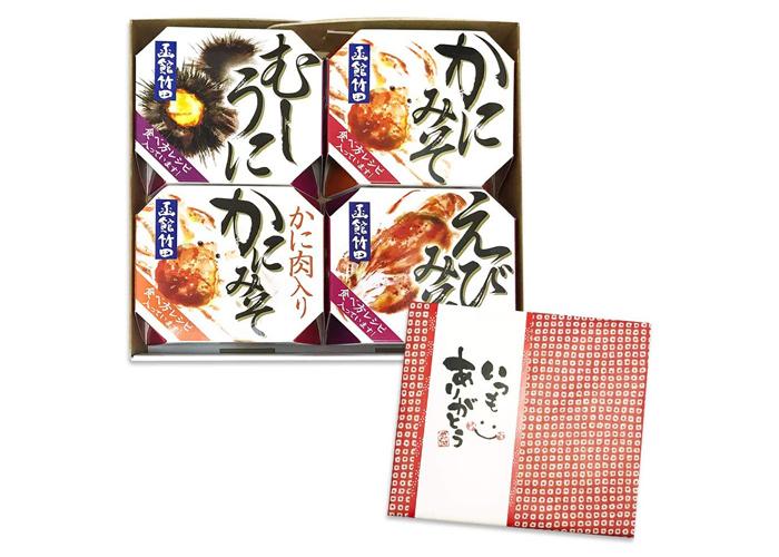 おつまみ缶詰 海鮮珍味4種「北国からの贈り物」
