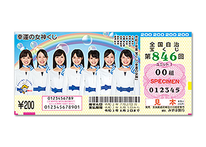 最高1.5億円当たるチャンス【幸運の女神くじ150枚】
