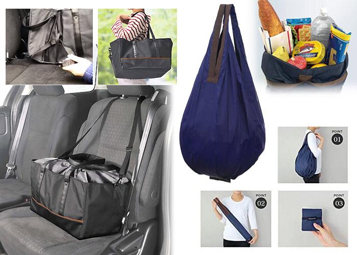 カーメイト 買い物かごサイズ 保冷バッグ+マーナ Shupatto コンパクトバッグ