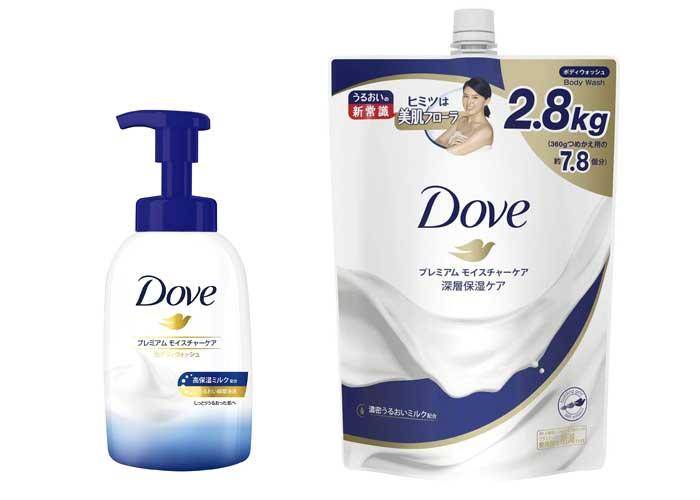 Dove(ダヴ) ボディウォッシュ プレミアム モイスチャーケア1本+ 詰替え用 2800g