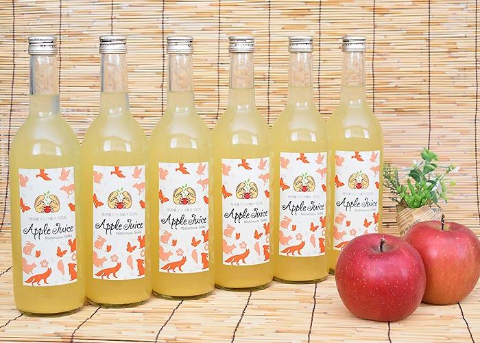 長野県産 100%りんごジュース 6本