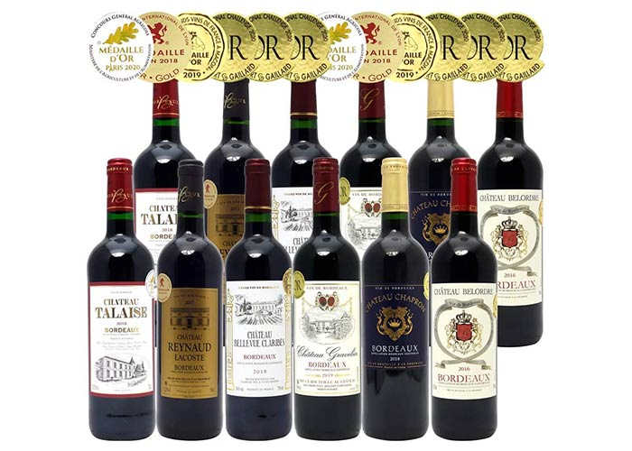 フランスボルドー 辛口赤ワイン 750mlx12本セット