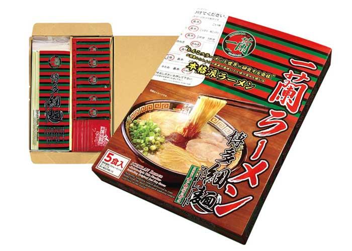 【メール限定プレゼント】一蘭ラーメン 博多細麺(10食入)