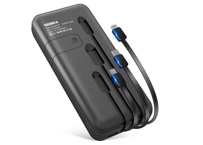 急速充電 モバイルバッテリー  26800mAh iPhone/iPad/Android対応コード付き[PSE認証済]