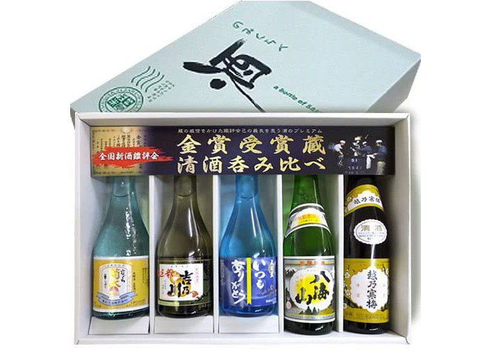 新潟人気希少銘酒 金賞受賞酒蔵 飲み比べセット300ml×5本