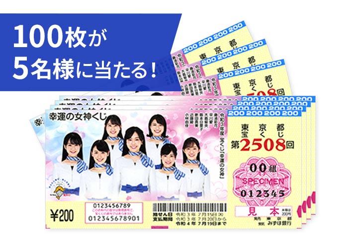 【幸運くじ2連発!】②幸運の女神くじ 100枚×5名様