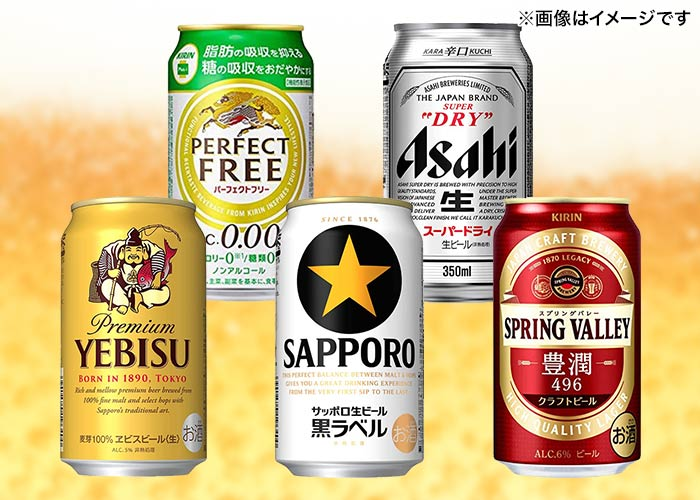 <当選確率1/2>缶ビール24本セット(アサヒ/サッポロ/キリン)
