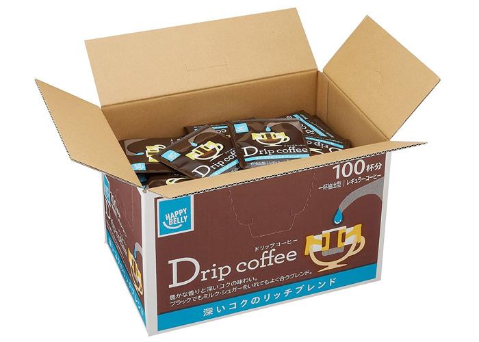 Happy Belly ドリップコーヒー 深いコクのリッチブレンド 100P UCC製