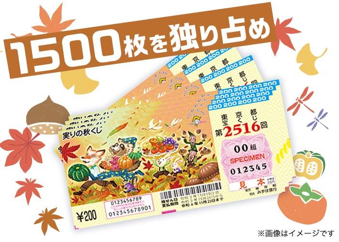 実りの秋くじ 1500枚