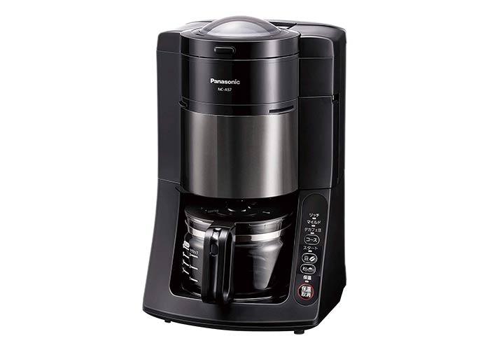 パナソニック 全自動コーヒーメーカー ミル付き(NC-A57-K)