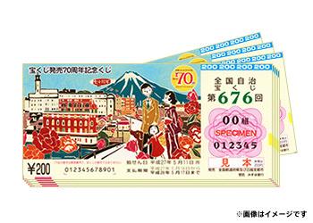 地方自治法70周年記念くじ1000枚