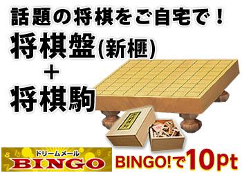 ★BINGO★将棋盤(新榧)+将棋駒