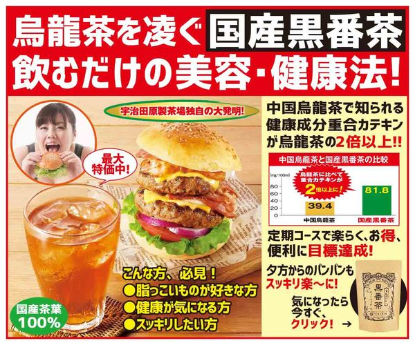 脂っこい食事が好きな方へ【国産黒番茶】初回特別990円