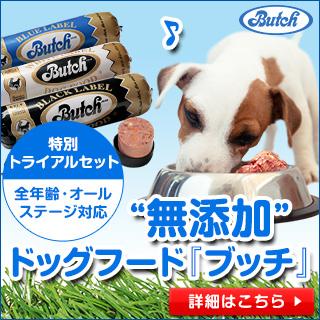無添加ドッグフード【ブッチ】全犬種オールステージ対応!今なら初回特別価格でご提供!