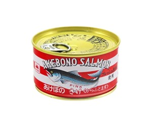 【ひかりTVショッピングで買える防災グッズ】マルハニチロ「あけぼの 鮭水煮缶」